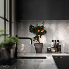 Zwart keuken water kraan