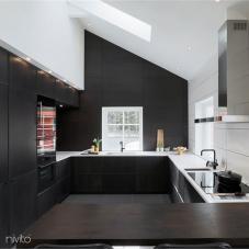 Keuken water kraan zwart