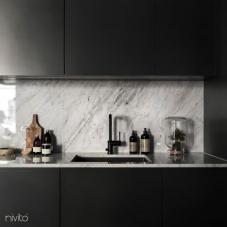 Zwart keuken kranen