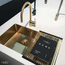 Goud/Messing Keukenspoelbak - Nivito 1-CU-500-180-BB
