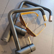 Koper Keukenkraan Zwart/koper - Nivito 1-RH-350-BISTRO