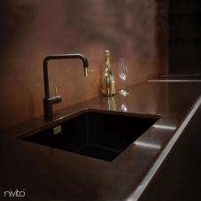 Goud/Messing Keukenkraan Zwart/goud/messing - Nivito 2-RH-340-BISTRO