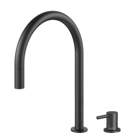 Zwart Keukenkraan Uittrekbare slang / Gescheiden behuizing/pijp - Nivito RH-120-VI