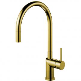 Brass/gold Keukenmengkraan Uittrekbare slang - Nivito RH-140-EX