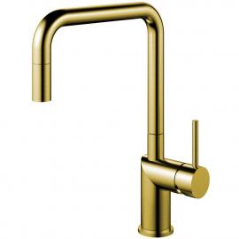 Brass/gold Keukenmengkraan Uittrekbare slang - Nivito RH-340-EX