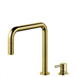 Brass/gold Keukenmengkraan Uittrekbare slang / Gescheiden behuizing/pijp - Nivito RH-340-VI