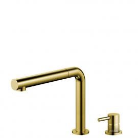 Brass/gold Keukenmengkraan Uittrekbare slang / Gescheiden behuizing/pijp - Nivito RH-640-VI